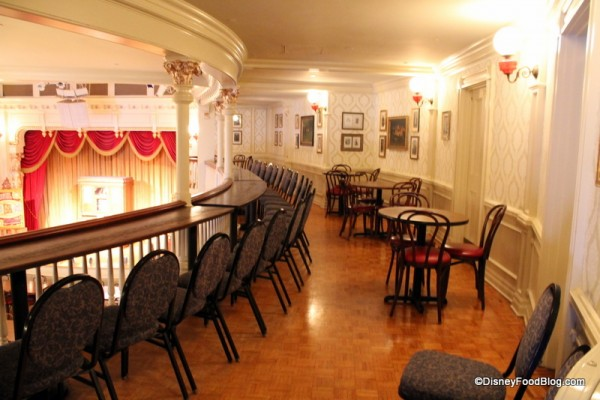 Upstairs seating