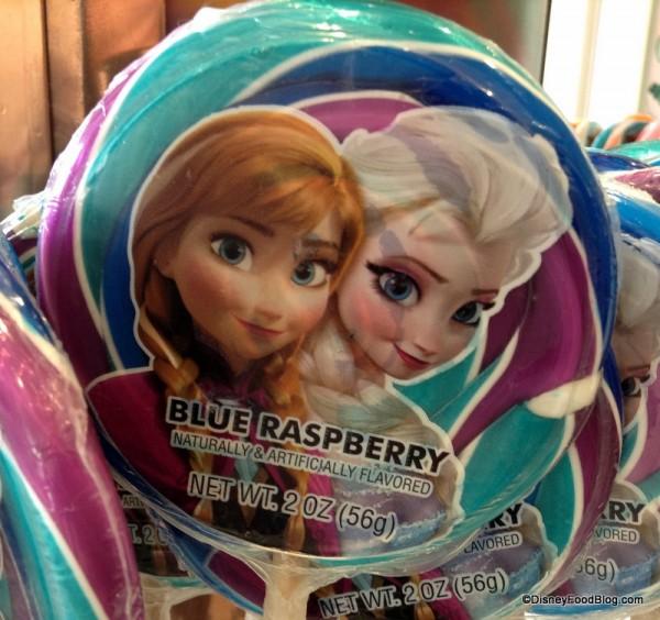 Anna and Elsa Blue Raspberry Lollipop
