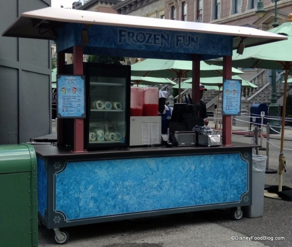 Frozen Fun Snack kiosk