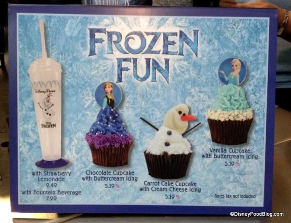Frozen Fun Treats sign