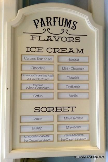 Flavor Menu