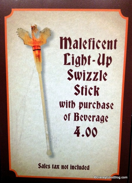Maleficent Light-up Swizzle Stick sign