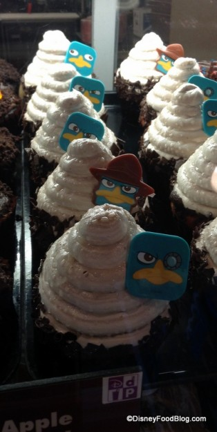 Phineas and Ferb Chocolate Cherry Cupcake