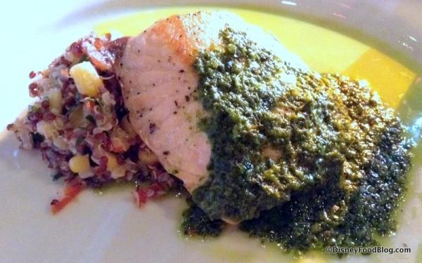 Salmon Dish at Patagonia Booth