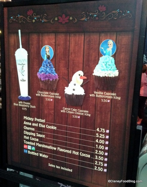Sweet Treat Bar Menu