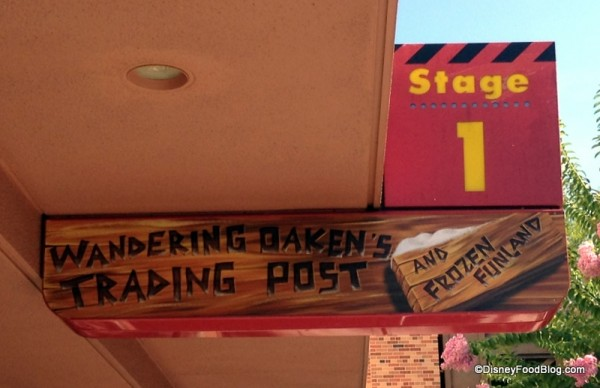 Wandering Oaken's Trading Post sign