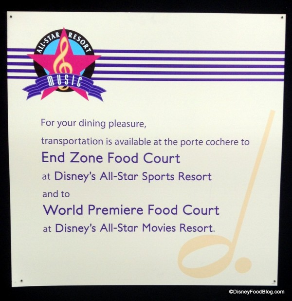Intermission Food Court Refurbishment sign