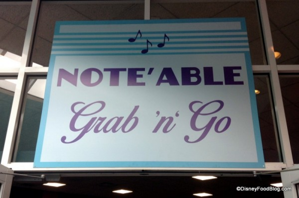 Note'able Grab 'n Go sign