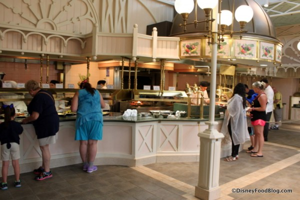Close Up of Buffet Area