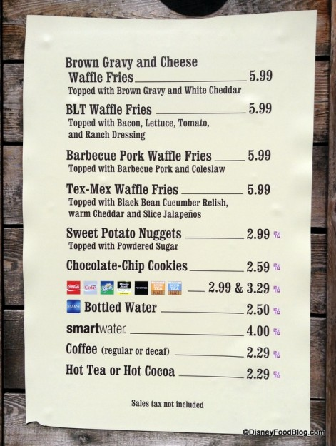 New Golden Oak Outpost Menu