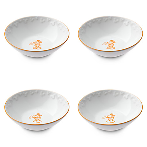 Gourmet Mickey Mouse White Bowls with Pumpkin