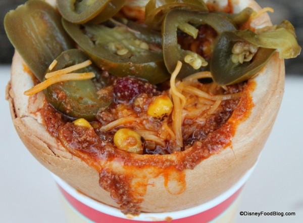 Chili inside the cone