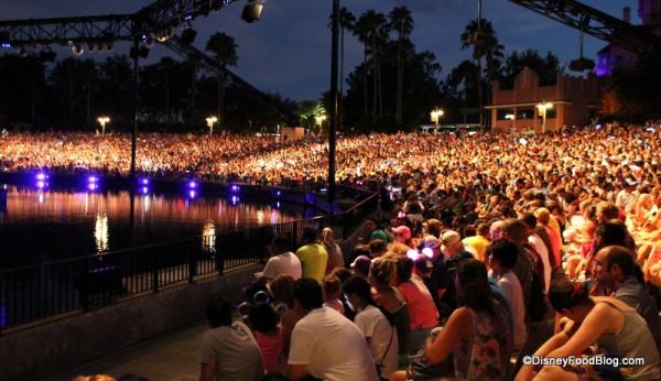 Amphitheater seating for Fantasmic!