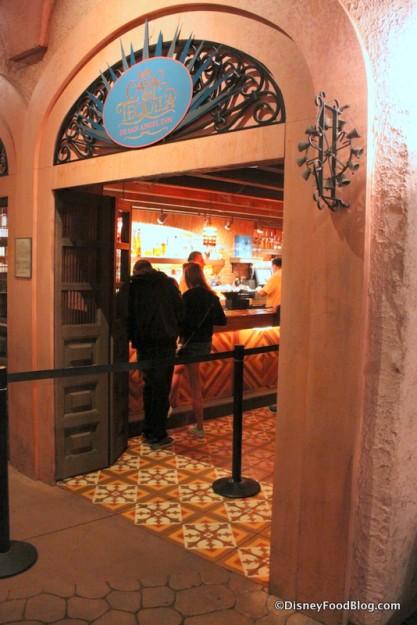 Entrance into La Cava del Tequila