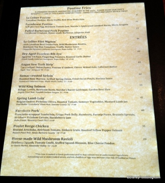 Le Cellier Menu (update)
