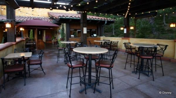 Alfresco Tasting Terrace Seating