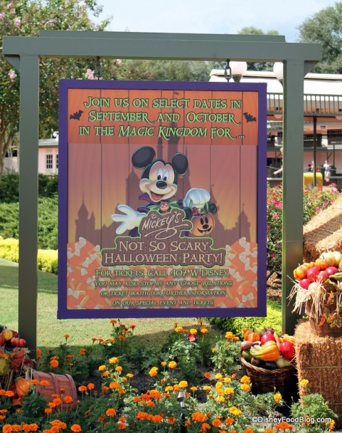 Mickey's Not-So-Scary Halloween Party sign
