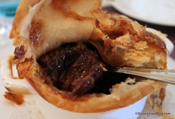 Oxtail Pie -- Inside