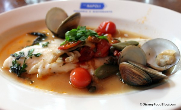 Pesce allo Tiano -- Stewed Fish, Clams, Tomatoes, Olives, and Capers
