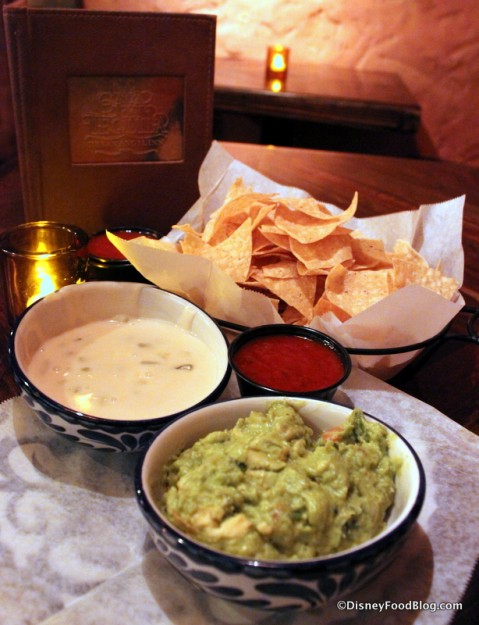 Trio Combo -- Salsa, Guac, Queso, and Chips