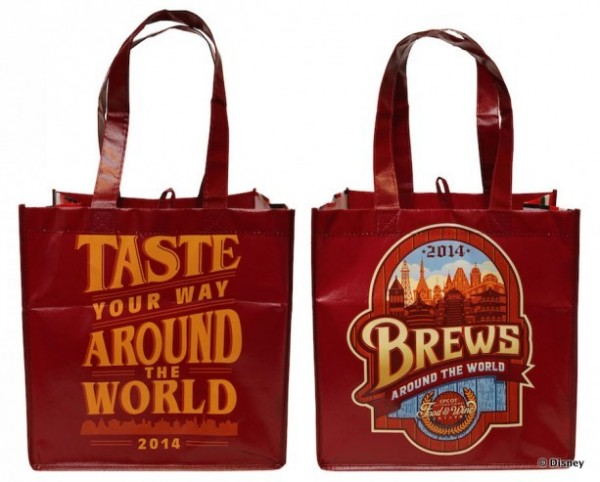 2014 Epcot Food and Wine Festival Reusable Tote -- Two Awesome Logos in One Great Bag!