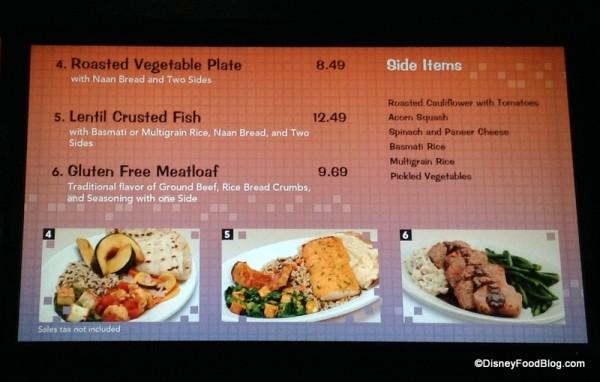 Landscape of Flavors menu screen