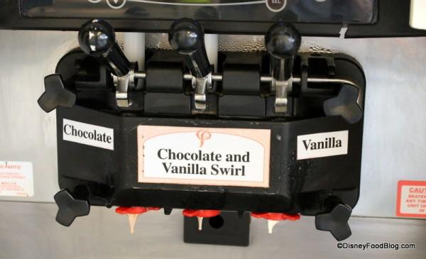 Soft Serve Flavor Options -- Chocolate, Vanilla, or Chocolate and Vanilla Swirl