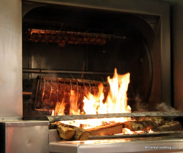 Fire Where Meats are Spit Roasted