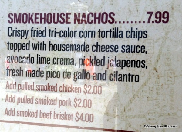 Smokehouse Nachos on menu