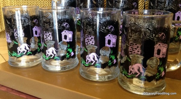 Haunted Mansion Glass Tankards