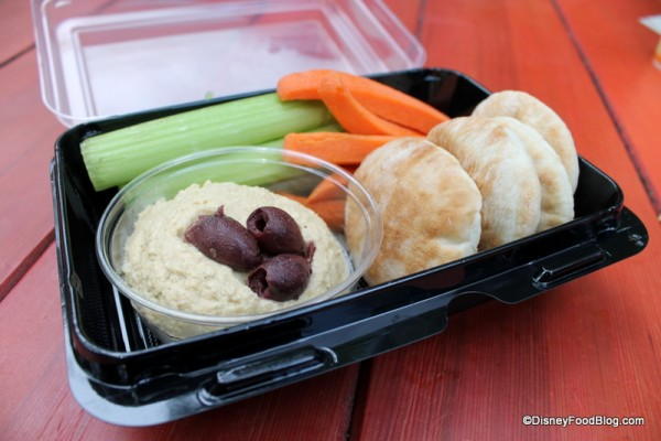 Hummus with Veggies and Pita
