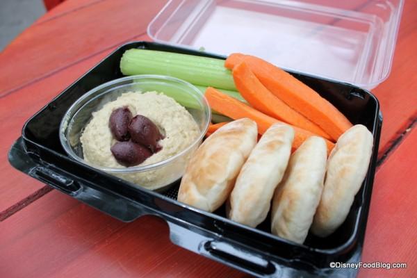 Hummus with Veggies and Pita