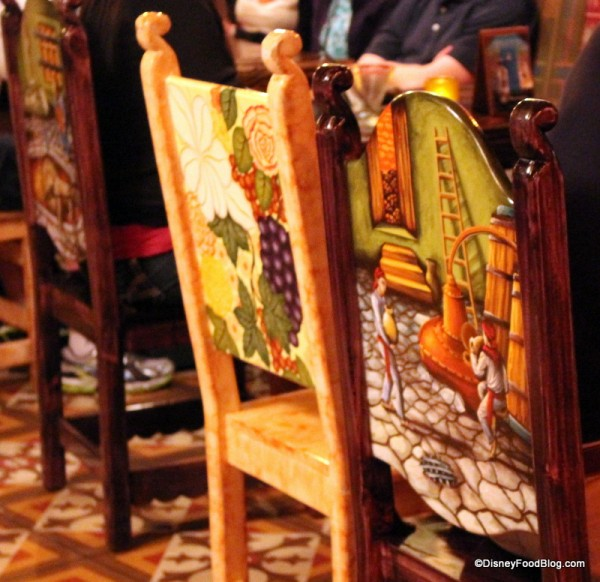 Backs of chairs
