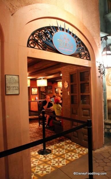 La Cava del Tequila entrance inside the Mexico Pavilion