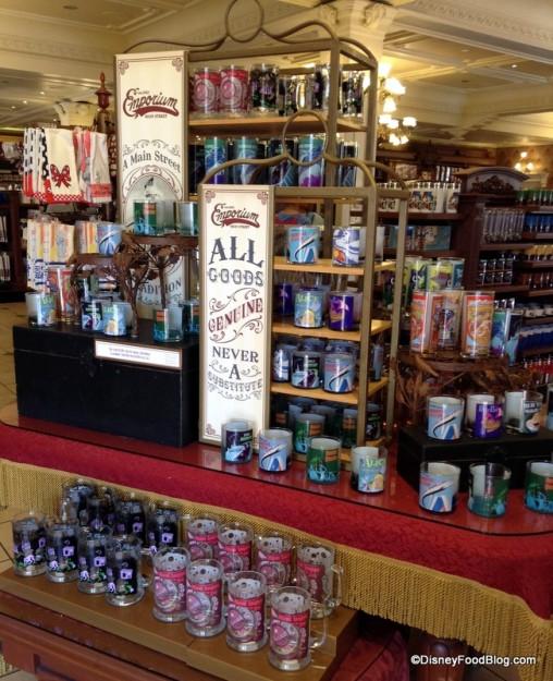 Merchandise display at the Emporium