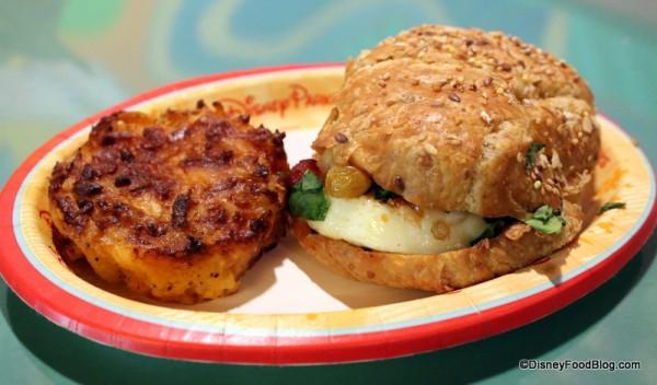 Breakfast Croissant with side of Breakfast Potatoes