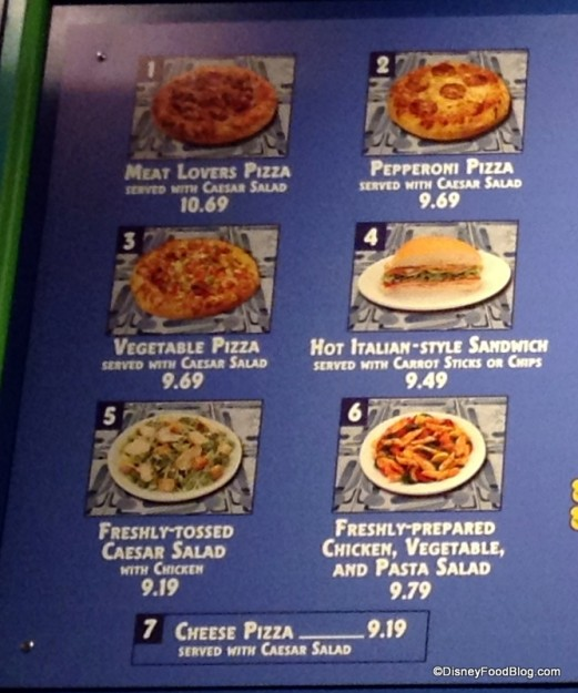 Pizzafari Lunch and Dinner Menu