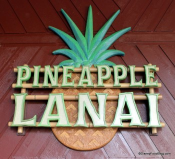 polynesian resort pineapple lanai sign