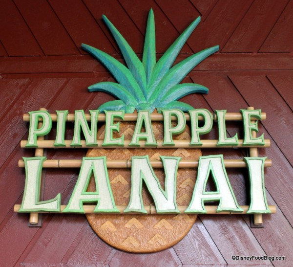 Pineapple Lanai sign