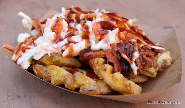 Pork Barbecue Waffle Fries