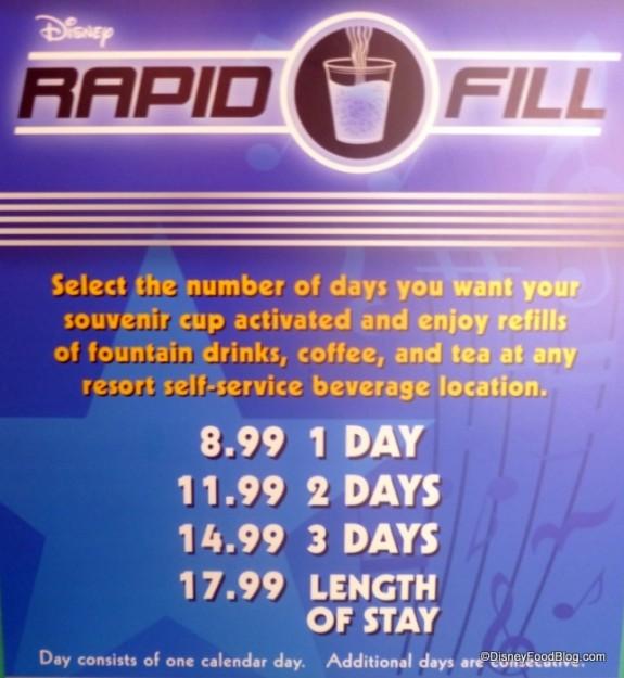 Rapid Fill Price Sign