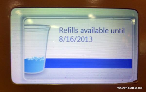 Refill date notice