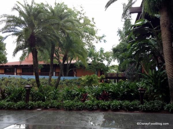 Rainy Day at the Polynesian