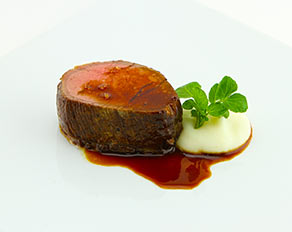 Beef Tenderloin, Roasted Garlic Mashed Potatoes, and Sauce Bordelaise From Shula's Steakhouse