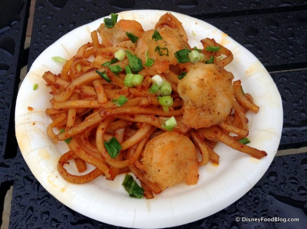 Black Pepper Shrimp with Sichaun Noodles