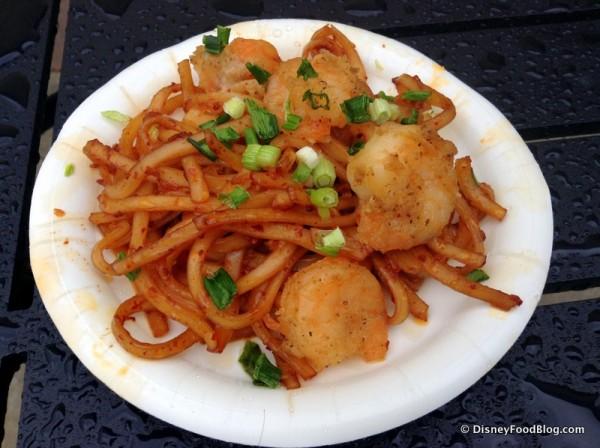 Black Pepper Shrimp with Sichaun Noodles