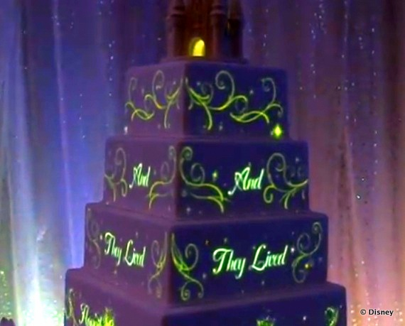 news disney fairytale weddings launches wedding cake projection mapping the disney food blog. Black Bedroom Furniture Sets. Home Design Ideas
