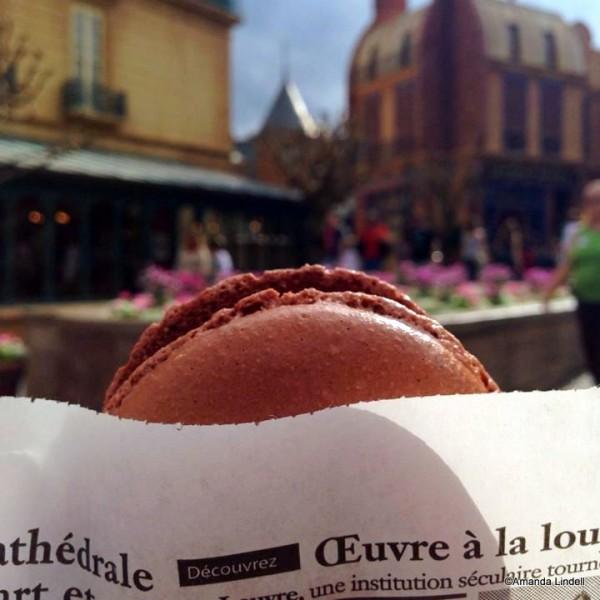 Chocolate Macaron Ice Cream Sandwich