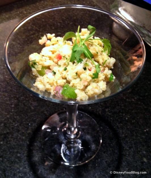 Ensalada de Carrucho: Caribbean Conch Salad with Onion, Tomato and Cilantro