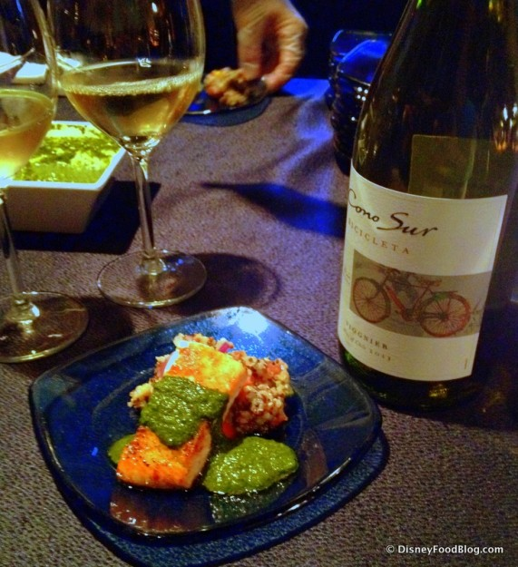 Cono Sur Bicicleta Viognier and Salmon from the Patagonia Marketplace